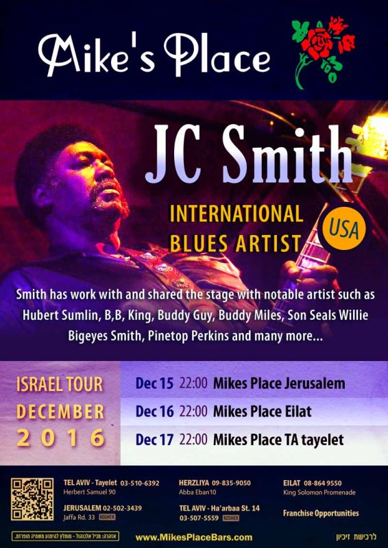 JC Smith - international blues artist
